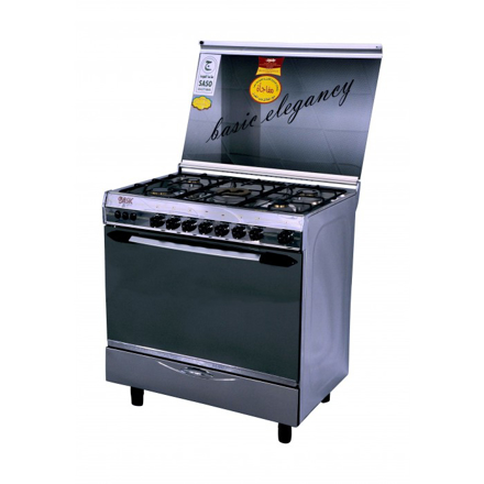 Picture of Basic 90 x 60 cm 5-Burner Floor Standing Gas Cooker (8905) - Stainless Steel