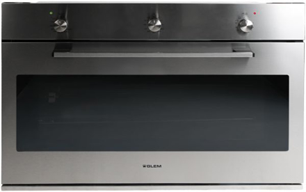 Picture of Glem Gas & Electric Oven (90) cm, 105 Liters, Steel - F995X - Color: Silver - Brand: Glem Gas