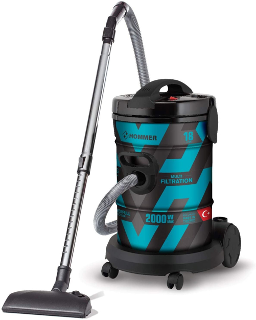 Picture of HOMMER DRUM TYPE VACUUM CLEANER 18L, 2000w, HSA211-09, BLACK/BLUE