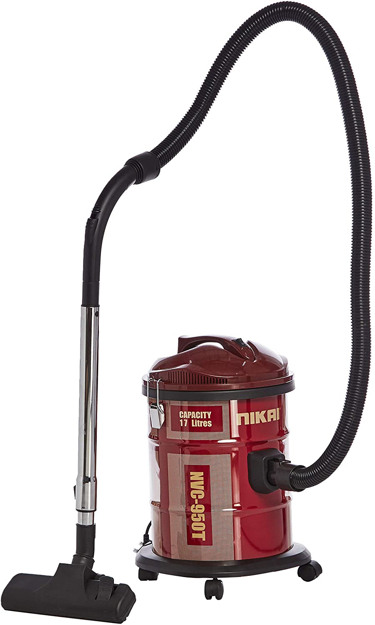 Picture of Nikai Dry Drum Type Vacuum Cleaner 1600 Watts, Red [NVC950]