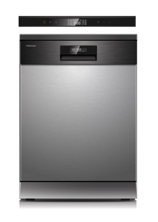 Picture of Toshiba Dishwasher, 14 Place Setting 8 Programs, UV Sanitization,Stainless Steel