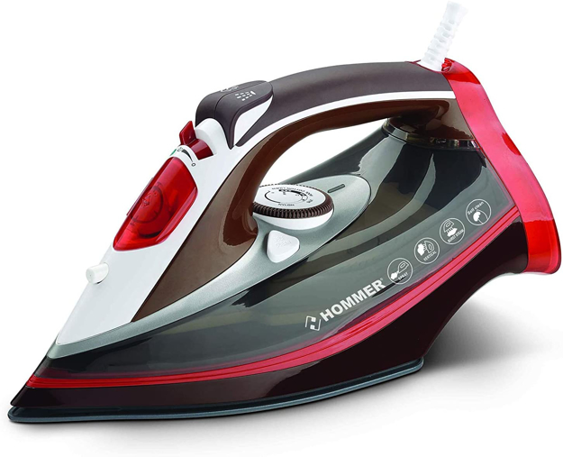 صورة Hommer Steam Iron, Red, 2200 Watts - HSA203-02