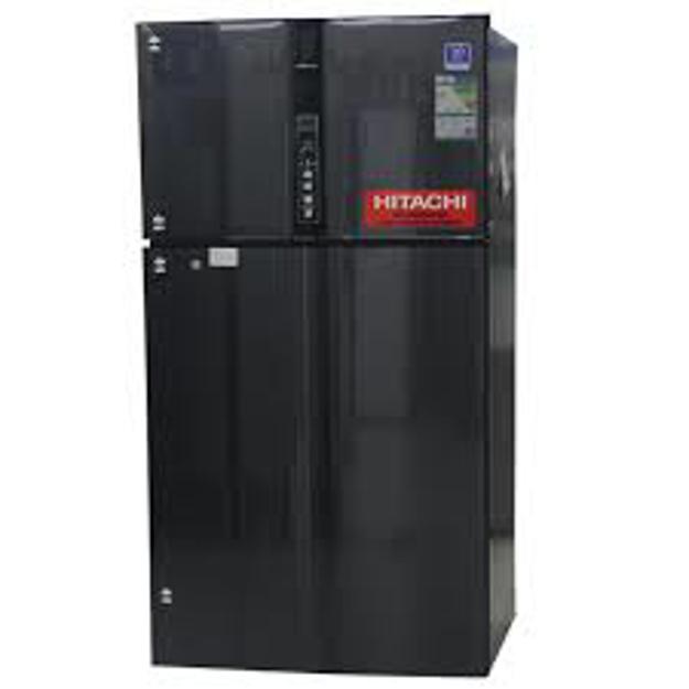 Picture of Hitachi Two door refrigerator Black color model No. R-V805PS1KVBBK