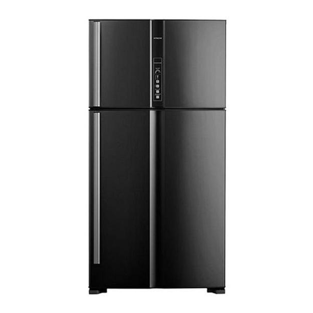 Picture of Hitachi refrigerator 24.7 feet black 2 doors - R-V905PS1KV-BBK