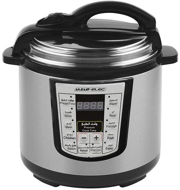 Picture of Al Saif Electric Pressure Cooker 8 Liter, 1200 Watts, E04102, Multicolor