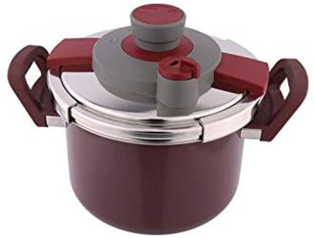 Picture of Al Saif Mixed Materials Manual Pressure Cookers, Red - K90002/Bd/4Lss
