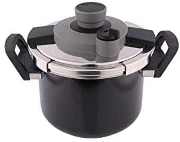 Picture of Al Saif Mixed Materials Manual Pressure Cookers, Black - K90002/Bk/4Lss