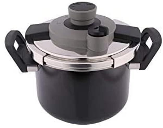 Picture of Al Saif Mixed Materials Manual Pressure Cookers, Black - K90002/Bk/6Lss