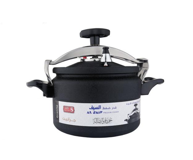 Picture of The sword pressure cooker is black granite
