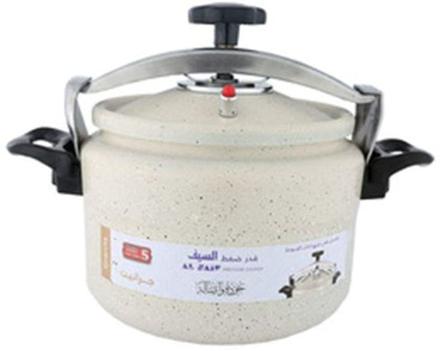 Picture of Al Saif Granite Aluminum Pressure Cooker Color: Pearl White, Size: 15 Liter K98015/PW