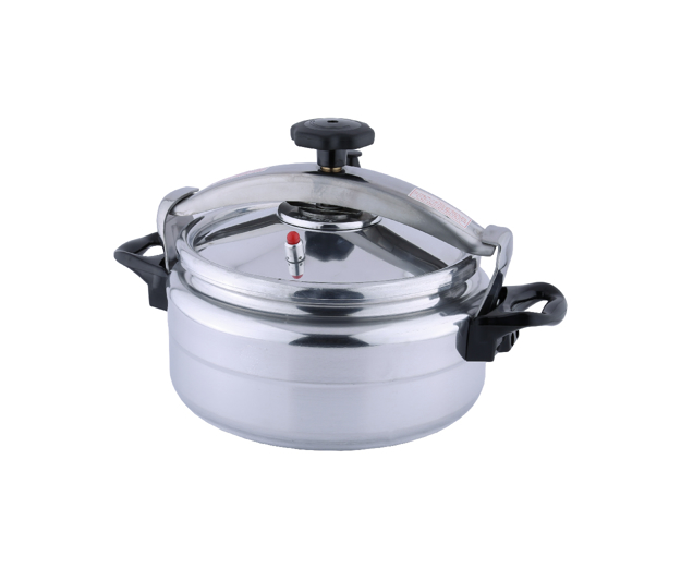 Picture of The pressure cooker of the aluminum sword is wide